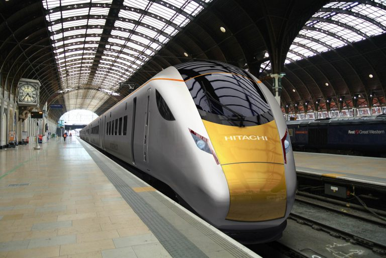 Die Hochgeschwindigkeitszüge Super Express Train von Hitachi für das britische Intercity Express Programm (IEP) sollen mit MTU-Powerpacks ausgerüstet werden. Die Antriebspakete mit MTU-Motoren der Baureihe 1600 leisten jeweils 700 Kilowatt.  The high-speed Hitachi Super Express Train for the British Intercity Express Programme (IEP) are to be fitted with MTU Powerpacks. The drive packages are powered by MTU Series 1600 engines each producing 700kW.